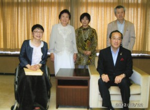 松井市長と面会2012年6月22日